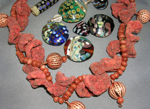 Unique Jewelry Designs in Silk and Glass by Jan Buday